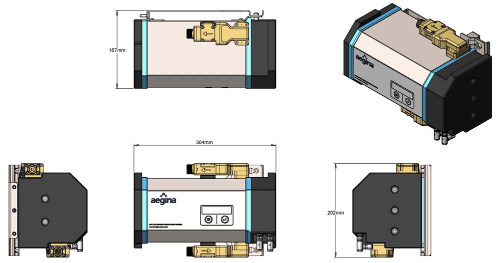 Aegina Pure Product Diagram 6 Litres per minute
