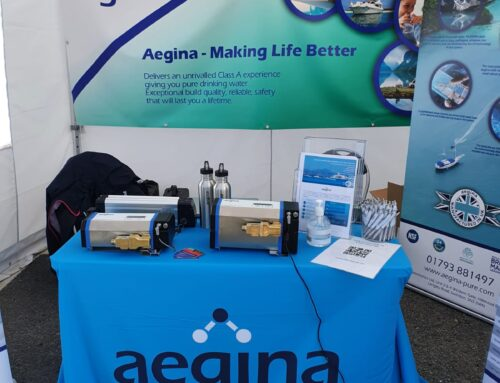 Aegina takes the stand at the Green Tech Boat Show