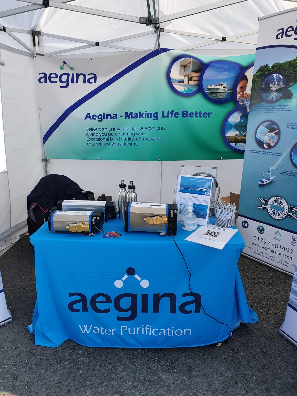Aegina Stand Green Tech Boat Show 2021